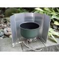 Windscherm geanodiseerd aluminium, 5- delig