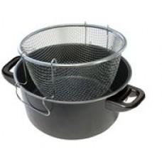 Frituurpan met korf 4,3L. geschikt voor benzinebranders
