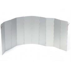 Windscherm Aluminium 10-delig opvouwbaar