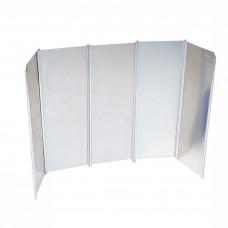 Windscherm Aluminium 5-delig opvouwbaar