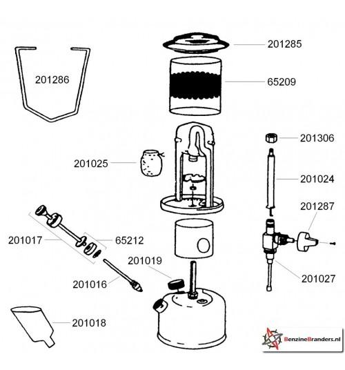 Onderdelen Coleman Compact 226 Unleaded lantaarn